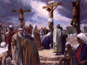 Christ crucified among thieves