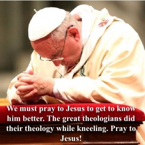 Prayer is the condition attached to getting to know Jesus better.