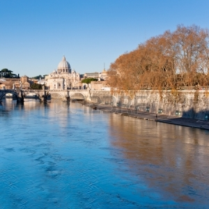 The River Tiber and St. Peter's Basilica, Rome