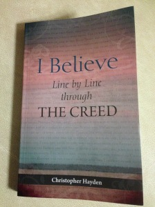 This is an excellent book, written by Fr. Chris Hayden. It's one of the books I'm recommending for the average lay wo/man in 2015. It's available from Veritas here http://www.veritasbooksonline.com/i-believe-line-by-line-through-the-creed.html or from Amazon here http://www.amazon.co.uk/Believe-Line-Through-Creed/dp/1847305687/ref=sr_1_1?ie=UTF8&qid=1420366606&sr=8-1&keywords=Christopher+Hayden