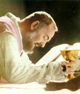 """The struggle between Pio and Satan became more difficult when Pio freed the souls possessed by the Devil. Pio recounts being physically beaten! Father Tarcisio of Cervinara said, """"More than once, before leaving the body of a possessed, the Devil has shouted, """"Padre Pio, you give us more trouble than St. Michael""""; also, """"Father Pio don't steal the bodies from us and we won't bother you."""""""